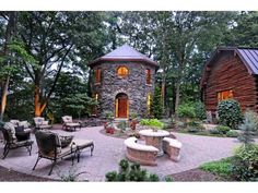 Ontario beach secret sidewalk rochester ny lakefront home landscape yard garden ideas - Small log houses dream vacations wild ...