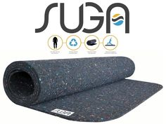 Suga uses recycled wet suits to create these earth-friendly yoga mats