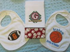 Baby boy sports theme favors looking for the best in unique baby personalized 3piece sports theme gift set 2 by sassyjunebugdesigns 3000 negle Gallery