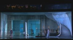 Royal Opera's 2008 two-tier set for Richard Strauss's Salome, designed by Es Devlin for David McVicar. The set cleverly comes apart in a coup de theatre for the Dance of the Seven Veils sequence.