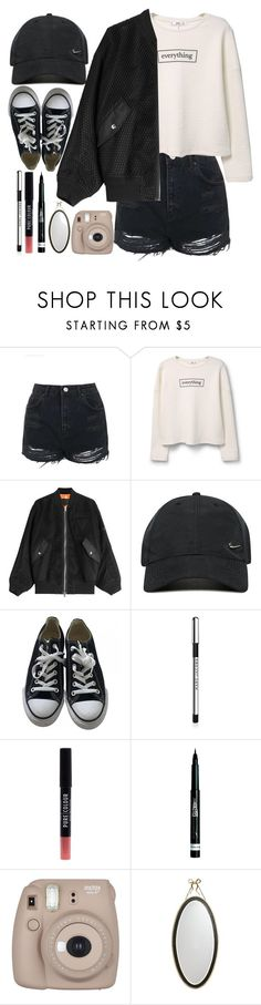 """Untitled #243"" by thebluek-poper ❤ liked on Polyvore featuring Topshop, MANGO, Alexander Wang, NIKE, Converse, Marc Jacobs, New Look, Rimmel, Fujifilm and Kate Spade"