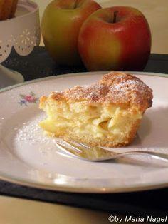 Apfelkuchen mit Vanille-Quark-Füllung
