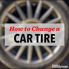 How to Change a Car Tire - Alles über Auto Diy Auto, Auto Gif, Car Care Tips, Car Flags, Diy Car, Car Videos, Emergency Preparedness, Hillbilly, Change
