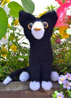 Tuxedo kitten by osweetlife on Etsy Tuxedo Kitten, Black And White Kittens, Dinosaur Stuffed Animal, Cats, Animals, Gatos, Animales, Kitty Cats, Animaux