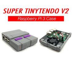 Super Tinytendo V2 Raspberry Pi 3 Case Raspberry Pi Case —With the optional fan.