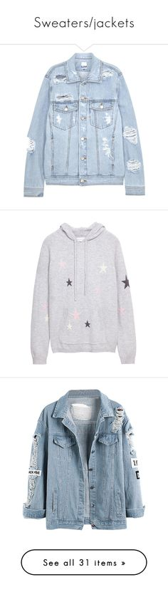Sweaters/jackets by my-happy-little-pill on Polyvore featuring polyvore, women's fashion, clothing, outerwear, jackets, denim jackets, coats, blue leather jackets, denim leather jacket, real leather jackets, denim jacket, leather jackets, tops, hoodies, clothing - hoodies, sweaters, marled hoodie, star hoodie, pink hoodie, cashmere tops, cream hoodie, blue, patch coat, denim coat, pocket coat, blue coat, light blue coat, jumpers, shirts, white top, cashmere sweater, shirt sweater, lace up…