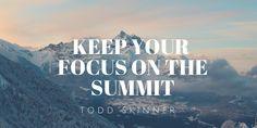 #TuesdayThoughts #MyAffirmation I'm keeping my eye on the summit.