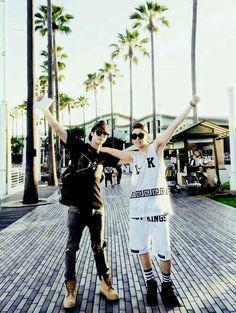 Jin and J-Hope LA