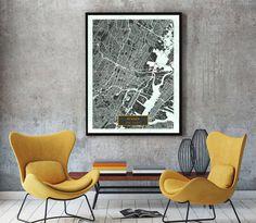 NEWARK New Jersey City Map Newark New Jersey Art by JackTravelMap