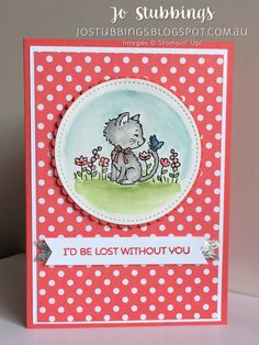 Jo's Stamping Spot - Case This Card Challenge #CTC013 using Pretty Kitty by Stampin' Up!
