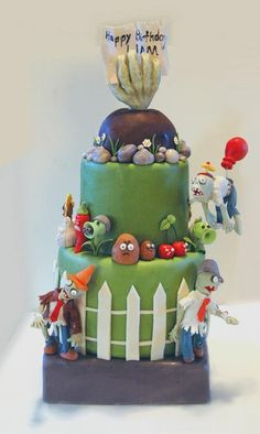 Best Zombie Birthday Cakes Ideas And Designs Zombie Birthday Cakes, Zombie Birthday Parties, Zombie Party, 8th Birthday, Birthday Ideas, Zombie Cakes, Plantas Versus Zombies, Sugar Dough, Happy Birthday Signs