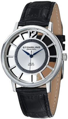 Stuhrling Original Men's 388S.33152 Classic Winchester Swiss Quartz Silver-Tone Watch Set Stuhrling Original. $92.76. Water-resistant to 50 M (165 feet). Black alligator embossed genuine leather strap with interchangeable tan matte leather strap. Stainless steel round shape case with protective Krysterna Crystal on front and back. Outer faceplate with Arabic numeral 12 and indices. Silver-tone dial with black printed outer seconds track and metallic blue hands. Save 73%!