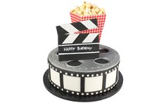How To Make a Deluxe Film Reel Movie Cake | Cake Decorating Tutorial http://www.culpittcakeclub.com/article/2015/2/4/how-to-make-a-deluxe-film-reel-movie-cake