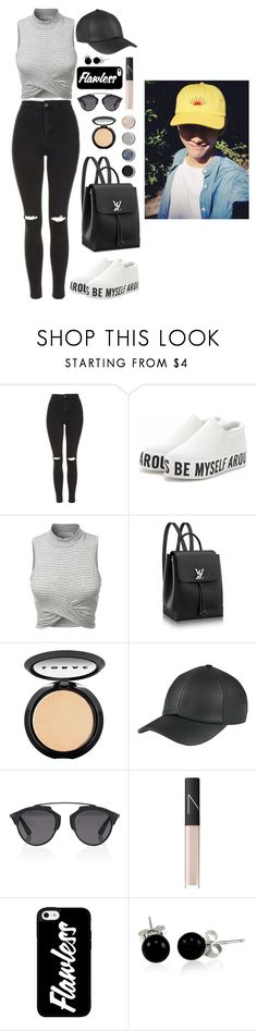 """City with V"" by got7outfits ❤ liked on Polyvore featuring Topshop, LE3NO, LORAC, Christian Dior, Terre Mère, NARS Cosmetics and Bling Jewelry"