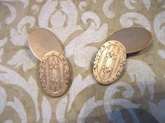 Victorian Gold Filled Decorative Cufflinks with by charmingellie, $30.00