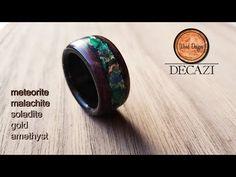Wooden ring with brass inlay / Puinen sormus messinkiupotuksella - YouTube