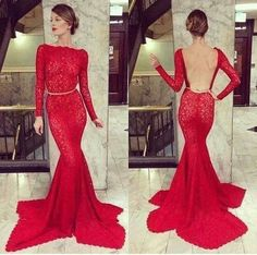 Red lace dress <3 Michael Costello