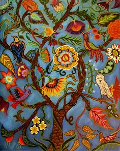 Catherine Nolin Art. Original Paintings and Prints tree of life