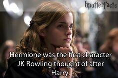 Fact... This is why Hermione was such a huge part of every movie. It was rare that Harry and Ron spent a lot of time together. It was mostly Harry and Hermione.