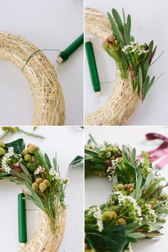 Learn to make a wreath.