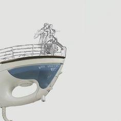 Ilustraciones con objetos cotidianos Diego Cusano (revista de Internet ETODAY)