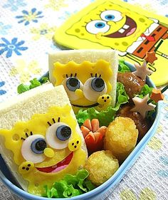 My kiddos aren't allowed to watch SpongeBob, but I must admit, this is awfully cute!!