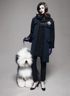 """""""Melissa Stasiuk (and a the cutest puppy!!)- Vogue August 2012"""""""