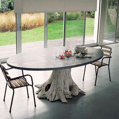 ツ by iSantano - Mineral & Might Dining Table.  Love the base, go with a little more rustic top.