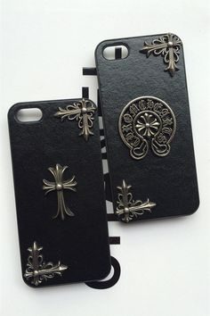 Cheap Sale Chrome Hearts iPhone6/6s Cross Horseshoes Leather Case Free Shipping