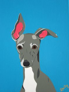 ORIGINAL and READY to SHIP Italian Greyhound Dog by LevityAndRin, $150.00