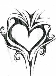 Spikey Heart by AcidUnicorn on DeviantArt Pencil Art Drawings, Love Drawings, Art Drawings Sketches, Tattoo Sketches, Tattoo Drawings, Body Art Tattoos, Tribal Tattoos, Tatoos, Heart Tattoo Designs