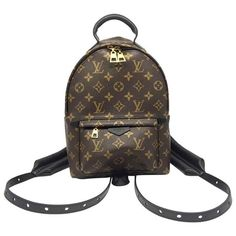 Louis Vuitton Palm Springs PM Monogram Backpack (€1.873) ❤ liked on Polyvore featuring bags, backpacks, monogrammed bags, louis vuitton backpack, knapsack bag, day pack backpack and rucksack bags