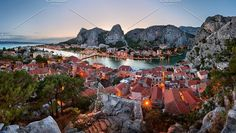 Omis Old Town and Cetina River by ansharphoto on @creativemarket