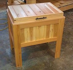 Rustic cooler stand made from cedar