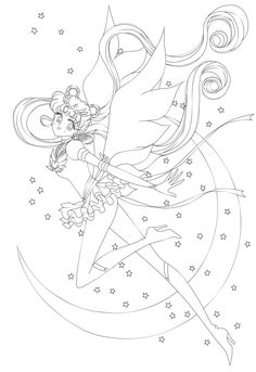 A coloring page version of Naoko Takeuchi's pic --> I also have this posted on my other account: ~SailorRocket I will not post anymore coloring pages on my other account. They will all be coming...