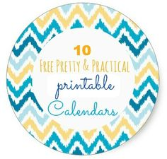 10 Free Oh So Pretty And Practical Printable Calendars and planners for 2014.