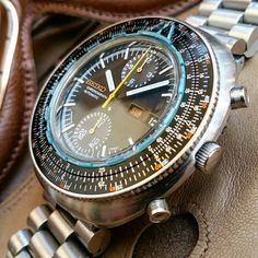 "Vintage SEIKO 6138-7000 "" Chronograph Automatic "" Slide Rule -  February 1972."