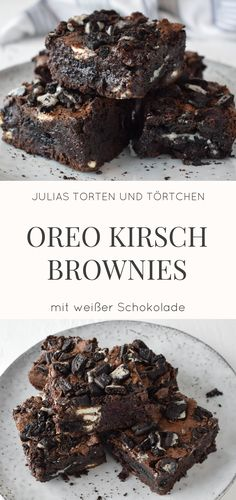 Oreo Kirsch Brownies mit weißer Schokolade Rezept für super saftige und schok… Oreo Cherry Brownies with white chocolate recipe for super juicy and chocolate brownies with a lot of oregano and cherries, plus white chocolate. The best brownies I know! Oreo Brownies, Cherry Brownies, Beste Brownies, Oreos, Cookie Dough Cake, Chocolate Brownie Cookies, Cookie Brownie Bars, Chocolate Cake Mixes, Chocolate Oreo