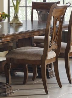 Kincaid Portolone Harp Back Side Chair Dining Room Furniture Design, Chair, Modern Wooden Chair, Furniture, Side Chairs, Furniture Dining Chairs, Dining Chair Design, Chair Design Wooden, Traditional Dining Room Chairs