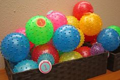 "Great favor idea for parties with small kids in attendance! ""I'm glad you came to my party, hope you had a ball! Bounce House Birthday, Ball Birthday Parties, Birthday Fun, 1st Birthday Party Favors, Polka Dot Birthday, Polka Dot Party, Polka Dots, Shopkins, Ball Theme Party"