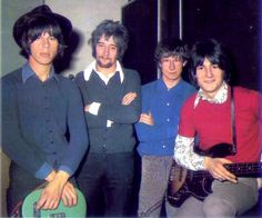 The Jeff Beck Group - L-R Jeff Beck, Rod Stewart,Tony Newman and Ronnie Wood in 1967