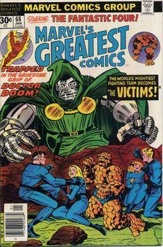 Marvel's Greatest Comic #68 Marvel Comics, Dr. Doom vs the Fantastic 4, greatest comic book rivalry ever?