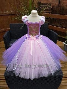 Tangled rapunzel inspired princess tutu dress