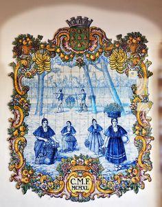 Tiles from the Mercado dos Lavradores (Farmers market). Funchal, Madeira. Portugal