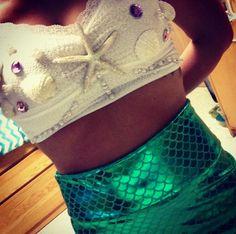 DIY mermaid costume                                                                                                                                                     More