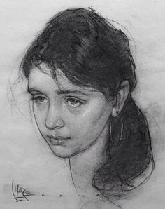 Josh Clare, beautiful female portrait drawing, 2009. #loveart #2good2btrue joshclare.com