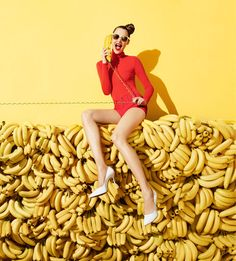 """Hello?"" / ""Yes We Have No Bananas"" [Aldo's 2012 Spring/Summer campaign featuring Anais Pouliot shot by Terry Richardson]"