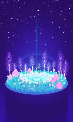 "michaelshillingburg: ""part of a series for electric objects "" Aesthetic Gif, Aesthetic Wallpapers, Graphic Design Illustration, Digital Illustration, Imagenes Gift, Arte 8 Bits, Neji E Tenten, 8bit Art, Anime Scenery"