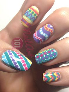 Tutorial: Colorful Nail Art Design <3 - Click the image for the Tutorial