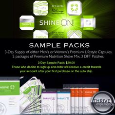 You don't want to my full product yet? Get some samples! So cheap!
